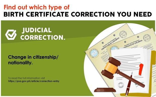 Judicial correction 1